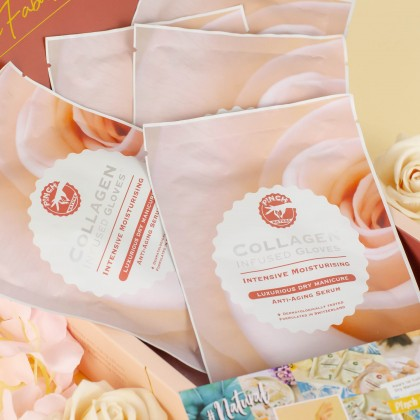 P!NCH Collagen Infused Gloves with Anti-Aging Serum (Short Gloves)
